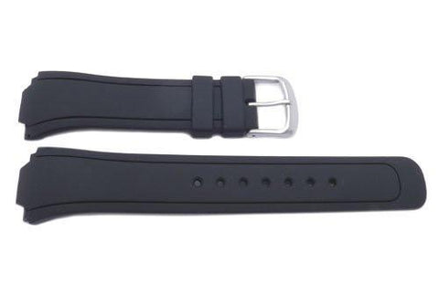 Genuine Citizen Eco Drive Black Rubber 19mm Watch Strap
