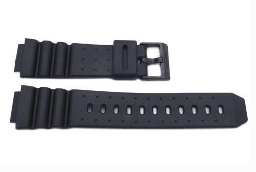 Genuine Casio Black Resin 16mm Watch Strap- 70607028