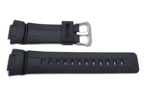 Genuine Casio Black Resin 16mm Watch Band- 10001449