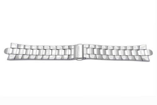 Genuine Stainless Steel 22mm Silver Tone Eco-Drive Corso Watch Strap by Citizen