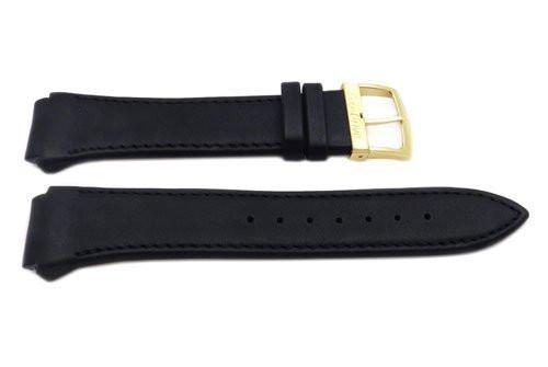 Genuine Black Leather 24 18mm Eco Drive Watch Band By