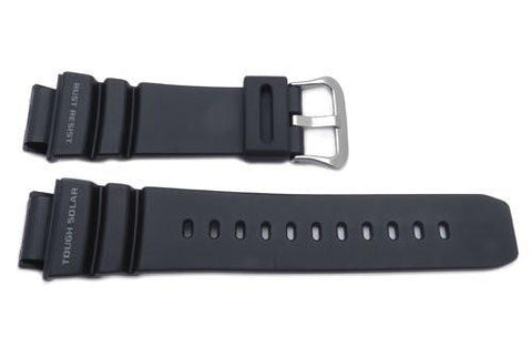 Genuine Casio Black Resin 26.5mm Gulfman Solar Atomic Series Watch Strap