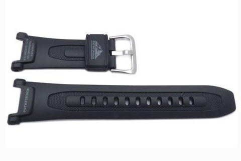 Genuine Casio Black Resin 18mm Pathfinder Series Watch Band- 10036571