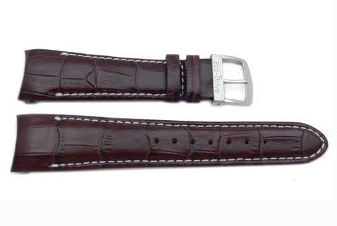 Genuine Brown Textured Leather 22mm Eco-Drive Watch Strap by Citizen