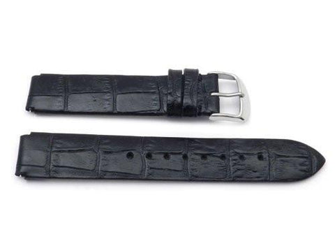 Genuine Alligator Grain Flat Padded Philip Stein Style 18mm Watch Band