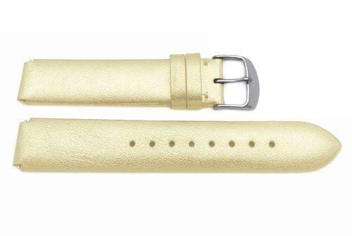 Genuine Leather Metallic Gold Philip Stein Style 18mm Watch Strap