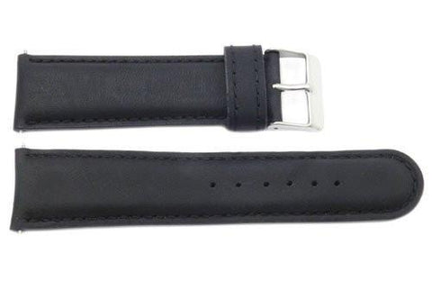 Genuine Leather Black B-1511 Watch Strap