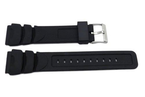 Pulsar Black Rubber 20mm Watch Strap