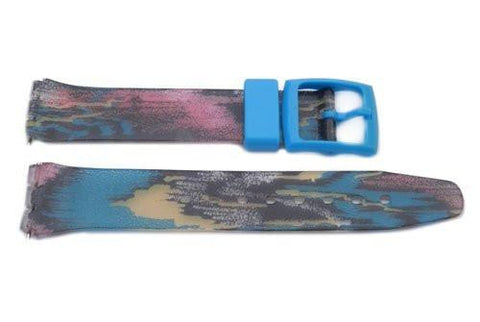 Swatch Replacement Plastic Tie Dye Design 17mm Watch Strap