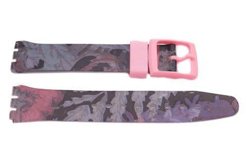 Swatch Replacement Plastic Flower Design 17mm Watch Strap
