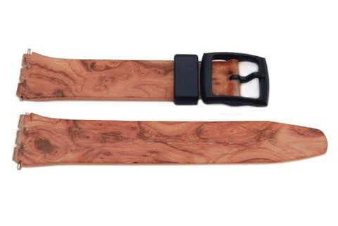 Swatch Replacement Plastic Orange Swirl 17mm Watch Strap