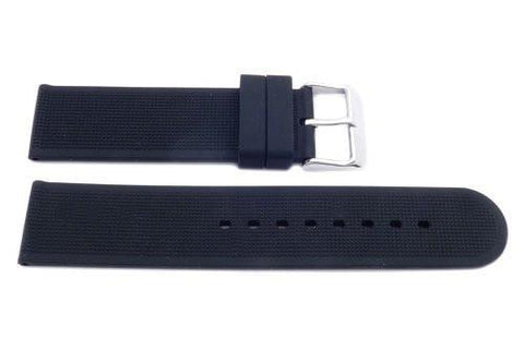 Genuine Silicone Black Textured B-RB102 Watch Strap