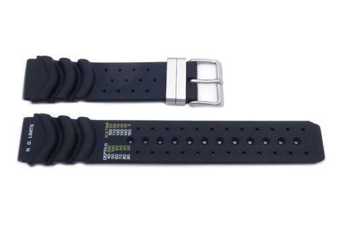 Genuine Citizen Black Rubber Aqualand Series Watch Strap