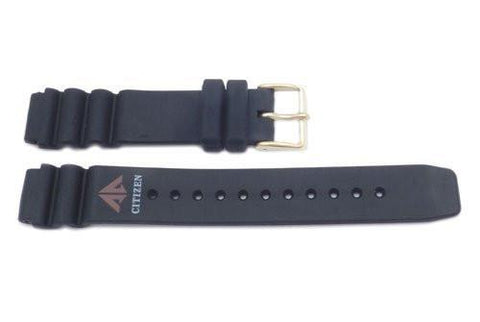 Genuine Citizen Black Rubber 16mm Watch Band