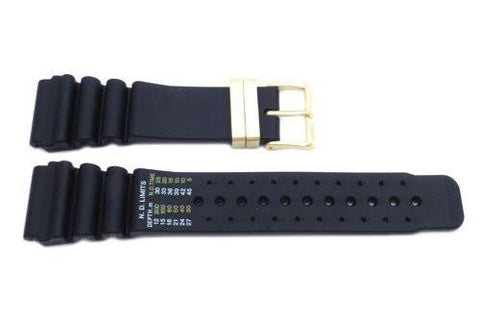 Genuine Citizen Black Rubber Aqualand 24mm Watch Band