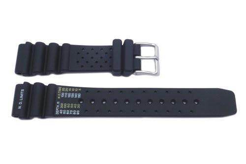 Genuine Citizen Black Rubber 20mm Watch Strap