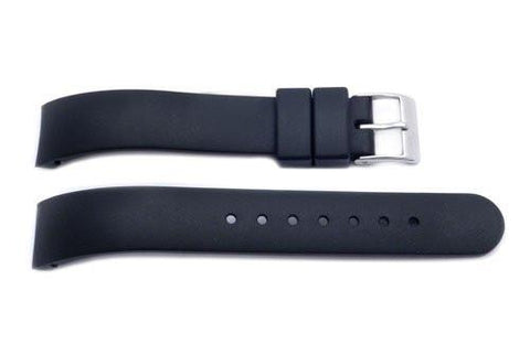 Genuine Swiss Army Black Rubber 15mm Strap