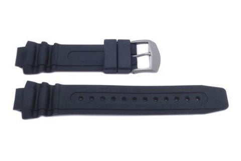 Genuine Citizen Black Rubber Eco-Drive 14mm Watch Band