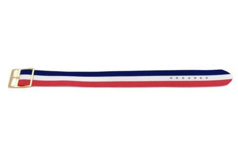 Red White and Blue Striped Nylon B-5202 Watch Strap