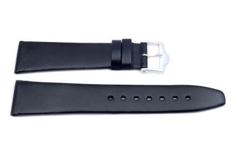 Black Genuine Calfskin Movado Style Watch Band