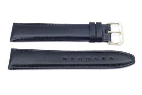Genuine Calfskin Smooth Leather Long Watch Strap
