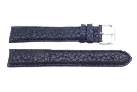 Black Wyoming Buffalo Leather Long Watch Band