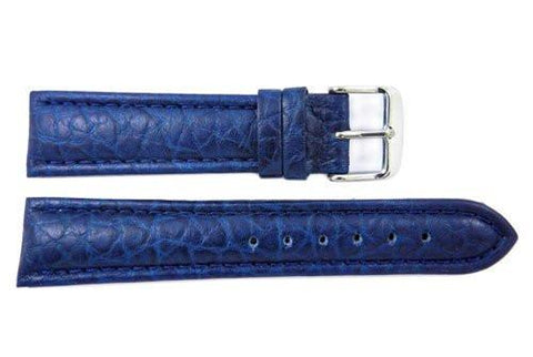 Blue Wyoming Buffalo Leather Watch Strap