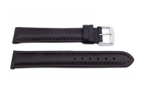 Brown Smooth Padded Leather Extra Long Watch Strap