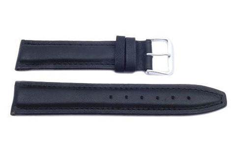 Black Oil Tanned Leather Men's Watch Strap