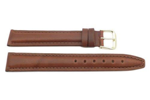 Brown Oil Tanned Leather Long Ladies' Watch Band