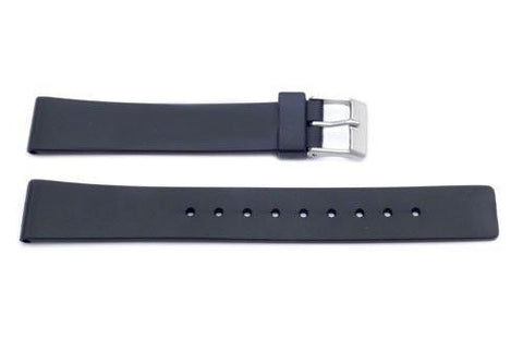 Black Plastic 16mm Watch Strap