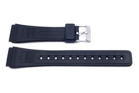 Black Casio Style 20mm Watch Strap P3028