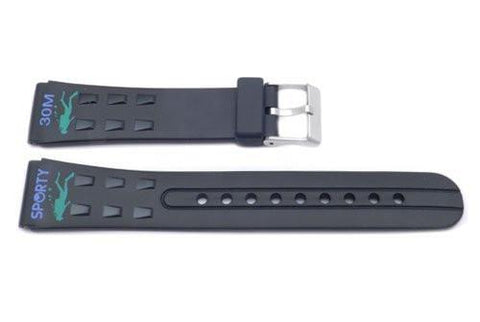 Black Sporty Waterproof 20mm Watch Band P3063