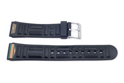 Black 3D Geometric Pattern 20mm Watch Band P3065