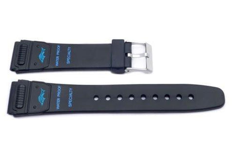 Black Sport Style Waterproof 20mm Watch Strap P3068