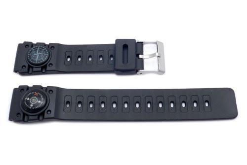 Black 20mm Compass Watch Band P3073