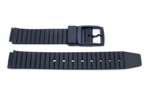 Black Sliding 16mm Watch Strap P3075