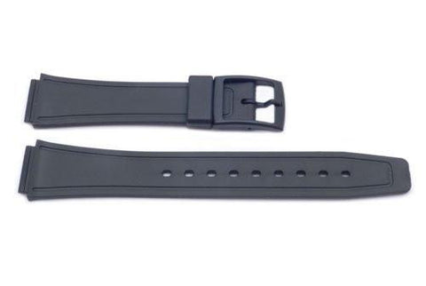 Black Q and Q Style 20mm Watch Band P3076