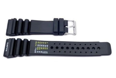 Black Citizen Style Resin Watch Band P3083