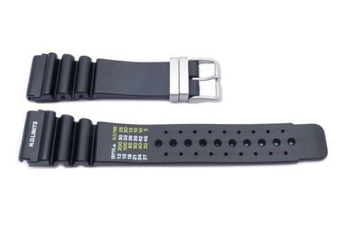 Black Citizen Style Resin Watch Strap P3084