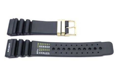 Black Citizen Style Gold Buckle Watch Band P3085