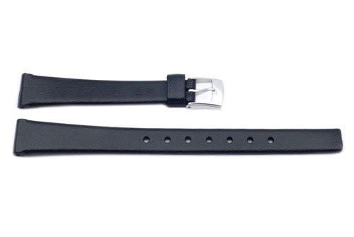 Black Polyurethane 12mm Watch Band P3003