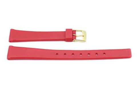 Red Polyurethane 12mm Watch Band P3004