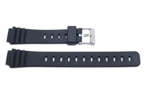 Black Casio Style 14mm Watch Strap P3009