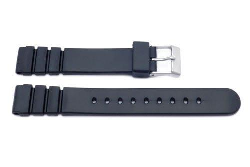 Black Casio Style 14mm Watch Band P3010