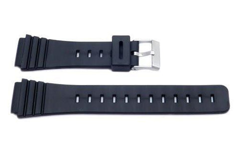 Black Casio Style 18mm Watch Band P3018
