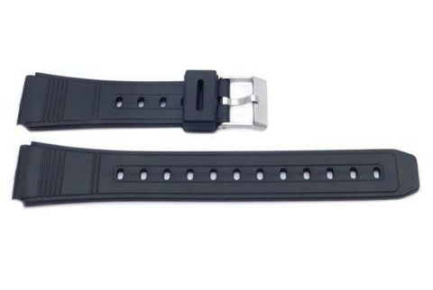 Black Casio Style 18mm Watch Strap P3023