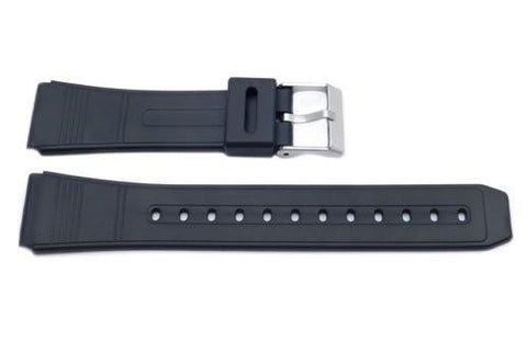 Black Casio Style 20mm Watch Band P3024