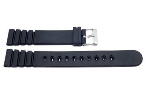 Black Casio Style Sport Watch Strap P3029