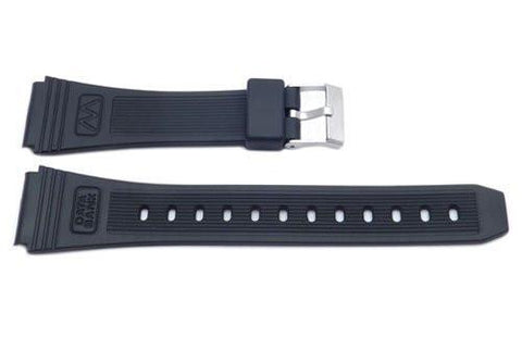 Black Casio Style Databank Watch Strap